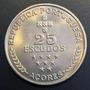 Azo001 Moneda Azores 25 Escudos 1990 Unc-bu Ayff