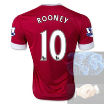 Jersey #10 Rooney Manchester United Rojo Adidas 2016 Roja Lo