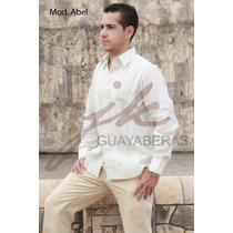Guayabera Yucateca Abel 100% Lino Manga Larga Fn4