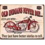 Poster Metalico Anuncio Litografia Lamina Indian Nunca Muere