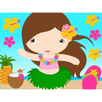 Kit Imprimible Hawaiana Candy Bar Diseña Tarjetas Cumple #1