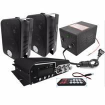 Paquete Bocinas Ambientales Amplificador 1400w Fuente Alimen