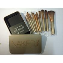 Brochas Naked 3 Set De 12 Piezas Para Maquillaje