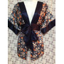 Forever 21 Bluson Satinado Floral Talla  Chica Forever 21