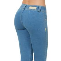 * Furor Jeans De Mezclilla Dama Bella Skinny Levanta Pompas