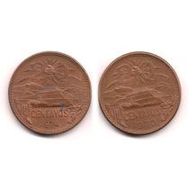 Par De Monedas 20 Centavos Teotihucan 1973 Y 1974