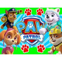 Kit Imprimible Paw Patrol Nene Diseña Tarjetas Invitaci 2x1