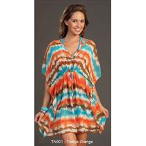 Pareo Unitalla Tipo Tunica Marina West Tn001 Tiedye Orange
