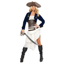 Disfraz De Pirata, De Lujo, Para Damas, Envio Gratis