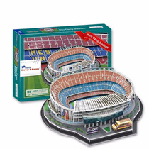 Z-b146 Estadio Nou Camp Barcelona 3d Puzzle Clever & Happy