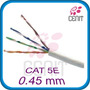 Cable Red Utp Rj45 Cat5e 0.45mm Gris 100 Metros Bfn