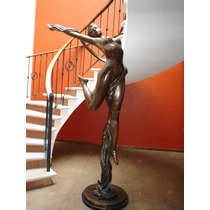 Escultura Bailarina 2.40 M Altura Fino Bronce Sp0