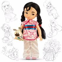 Disney Store Muñecas Animators Aurora Mulan Original
