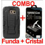 Combo Protector Uso Rudo Y Mica Glass Moto G Xt1032