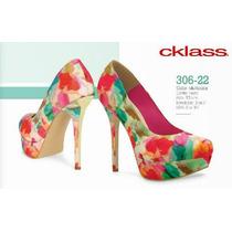 Zapatos Cklass Multicolor Textil Plataforma 12cm Nuevos