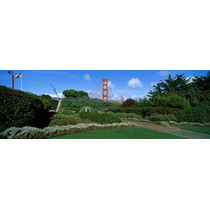 Poster (70 X 23 Cm) Suspension Bridge Golden Gate Bridge San