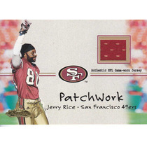 2001 Fleer Showcase Patchwork Jersey Jerry Rice Wr 49ers