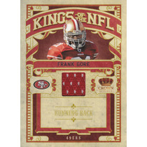2010 Crown Royale Nfl Kings Jersey Frank Gore 201/299 49ers