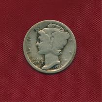 One Dime 1935 Ceca D · Plata 0.900