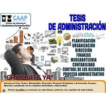 Tesis De Administración De Empresas Asesorías