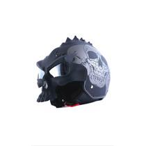 Casco Moto 3d Skull Mohawk 1storm Doble Visor, S A Xxl Dot