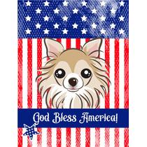 Dios Bendice La Bandera Americana Con La Bandera De Chihuahu