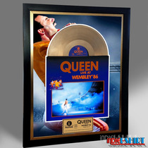 Cuadro Decorativo Queen Greatest Hits Tipo Disco Oro Mercuy