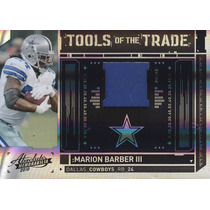 2010 Absolute Tott Prime Patch Marion Barber 27/50 Cowboys