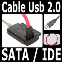 Cable Adaptador De Disco Duro 3 En 1 Usb 2.0 Sata - Ide