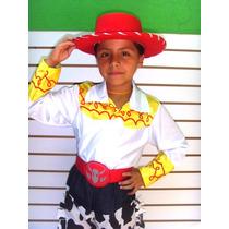 Disfraz Jessie Toy Story Niña Sombrero Pantalon De Mezclilla