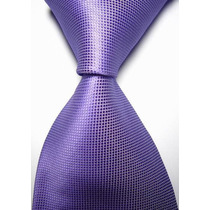 T02 Corbata Morada Lisa - Textura Microcuadros