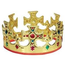 Única Del Oro Plástico Jeweled Rey Corona