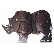 Rinoceronte En Hierro Y Forja 60cmx15cm $550.00