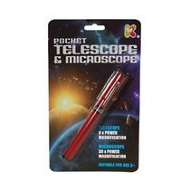 Microscopio - 16cm Tamaño De Bolsillo 30x 8x Telescopio