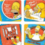 Vandor 67085 The Simpsons Duff Beer 4 Pc Coaster Madera Conj