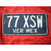 Antigua Placa De Carro Procedente De Veracruz