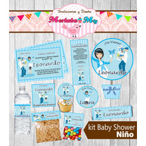 Invitacion Baby Shower Niño Kit Imprimelo Tú!