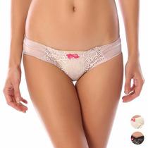 Paquete De 3 Bikini Encaje Tela Satinada Stretch Ropa Intima