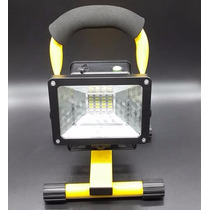Lampara Reflector Linterna Led 30w Portatil Y Recargable