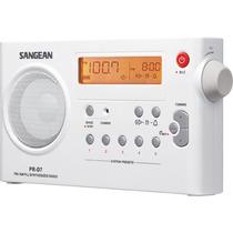 Radio Reloj Portatil Sangean Prd7 Bk Blanco