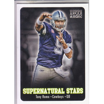 2012 Topps Magic Supernatural Stars Tony Romo Qb Cowboys