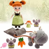 Disney Store Muñecas Animators Anna Frozen Princesa Original