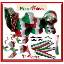 Paquete Fiestas Patrias México,15 Septiembre,sombrero,bigote