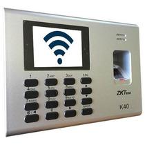 K40 Wifi Reloj Checador Con Control De Acceso / Red / Bateri