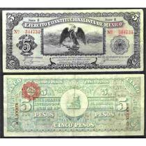 Mi-chi-71 Billete De Chihuahua De 5 Pesos