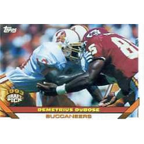 1993 Topps #494 Demetrius Dubose Bucaneros De Tampa Bay