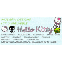 Kit Imprimible Hello Kitty Adornos Invitaciones Recuerdos Y+
