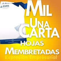 Millar De Hojas Membretadas A Todo Color Tamaño Carta Bond
