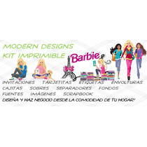 Kit Imprimible Barbie Adornos Invitaciones Recuerdos Y+