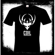 Coil - Logo Camiseta Industrial Gotico Industrial Noise Elec